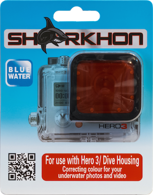 Sharkhon Red Filter for Hero3, and Hero3+ DIVE housing