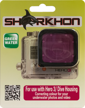 Sharkon Magenta Filter for Hero3/Dive housing
